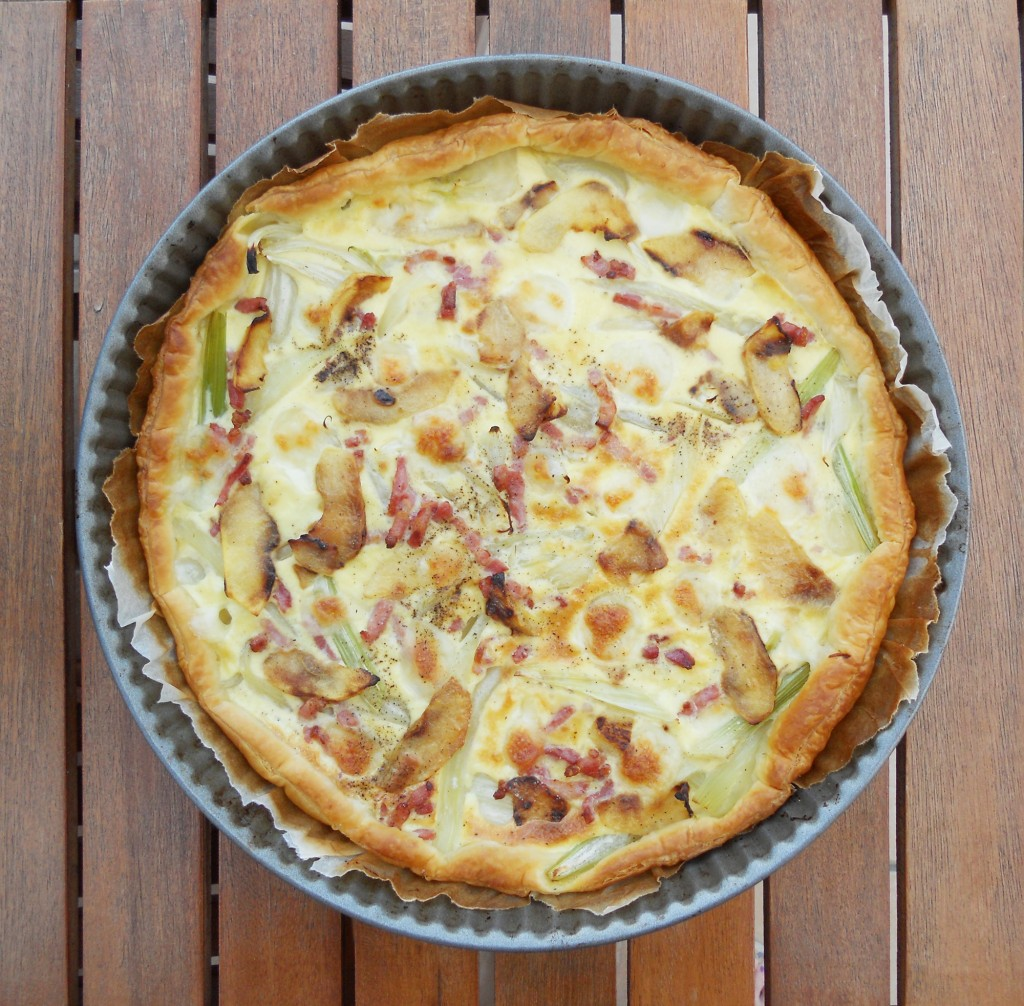 Tarte fenouil - lardons - mozza - pomme