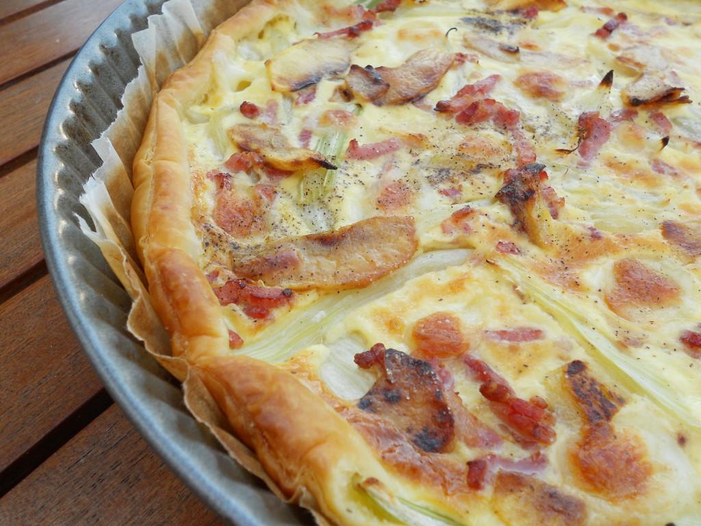 Tarte fenouil - mozza - pomme - lardon