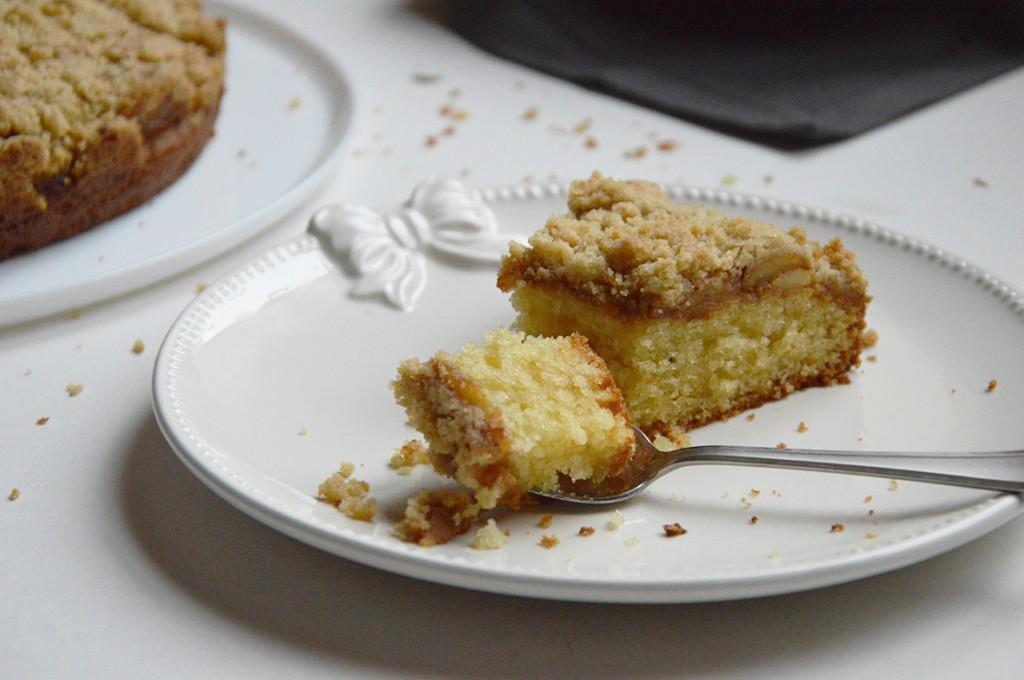 Part de gâteau Streusel aux pommes