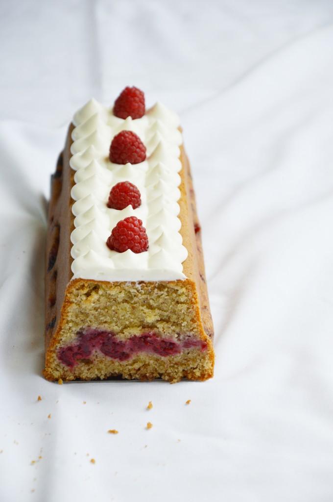 Cake vanilla et son coeur de framboise