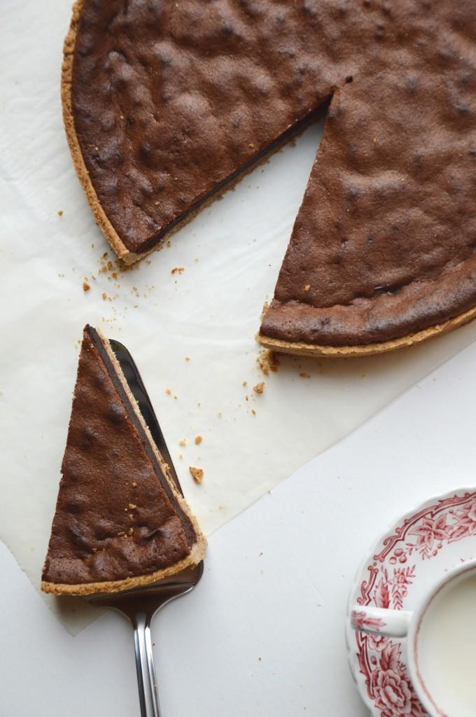 Tarte noisette et chocolat - Plus une miette dans l'assiette