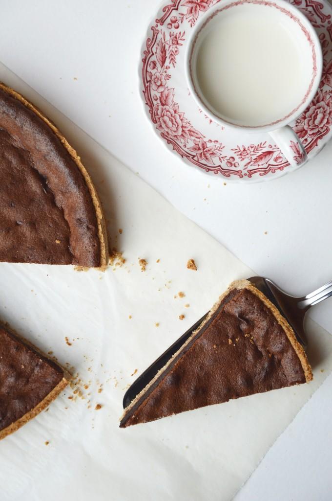Tarte chocolat-noisette par Plus une miette dans l'assiette