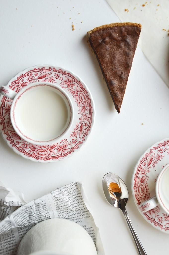 Tarte chocolat-noisette by Plus une miette dans l'assiette