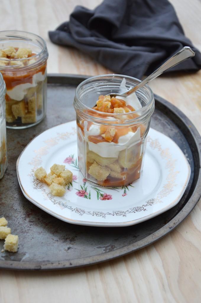 Banoffee jar by Plus une miette dans l'assiette