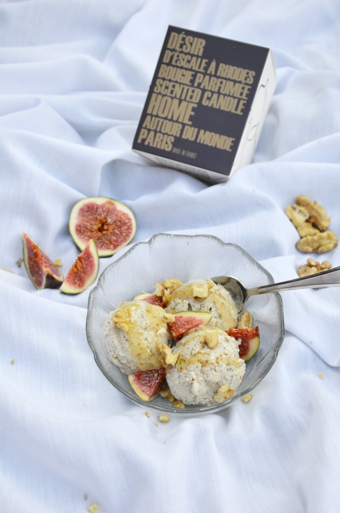 Glace figue-miel-noix - Plus une miette dans l'assiette