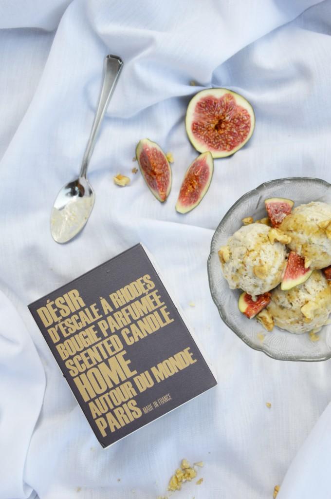 Glace figue-miel-noix by Plus une miette dans l'assiette