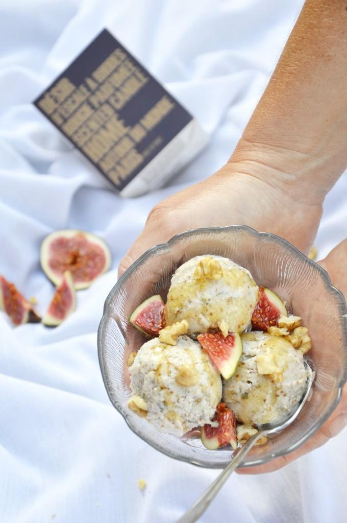 Glace figue-miel-noix / Plus une miette dans l'assiette