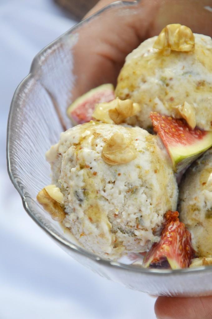 Glace figue-miel-noix  Plus une miette dans l'assiette