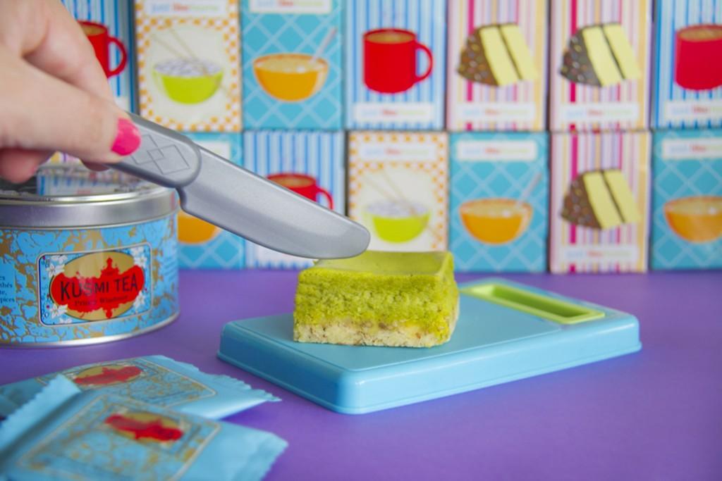Cheesecake au thé matcha - Plus une miette X Alice sur le gâteau