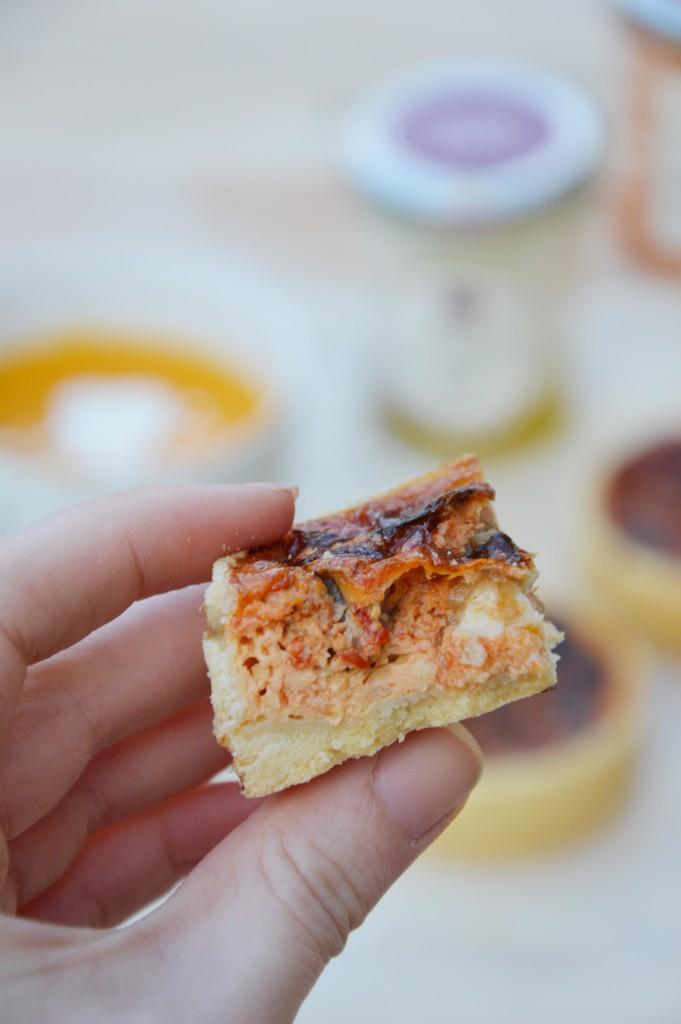Quiche poivron - aubergine - chèvre frais par Plus une miette dans l'assiette