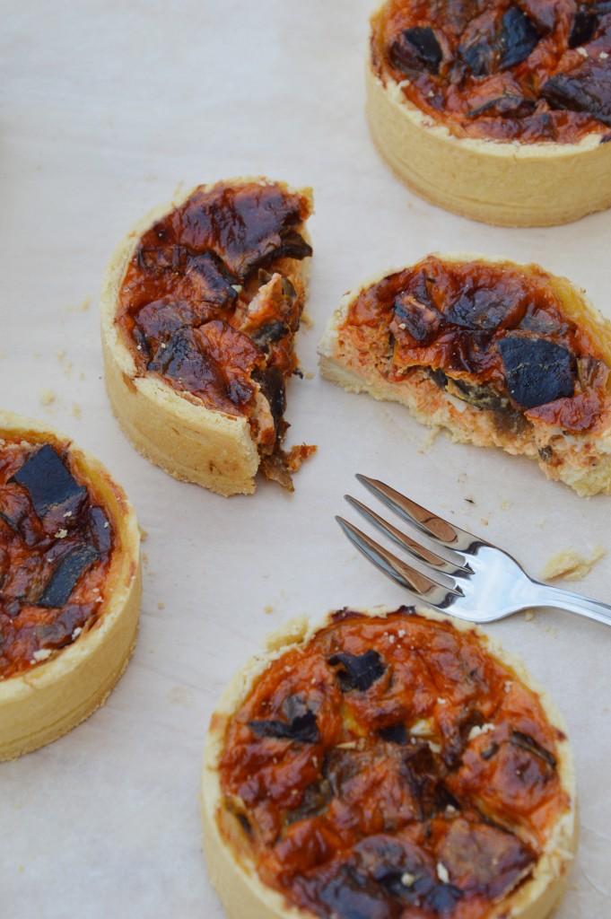 Quiche poivron - aubergine - chèvre - Plus une miette dans l'assiette