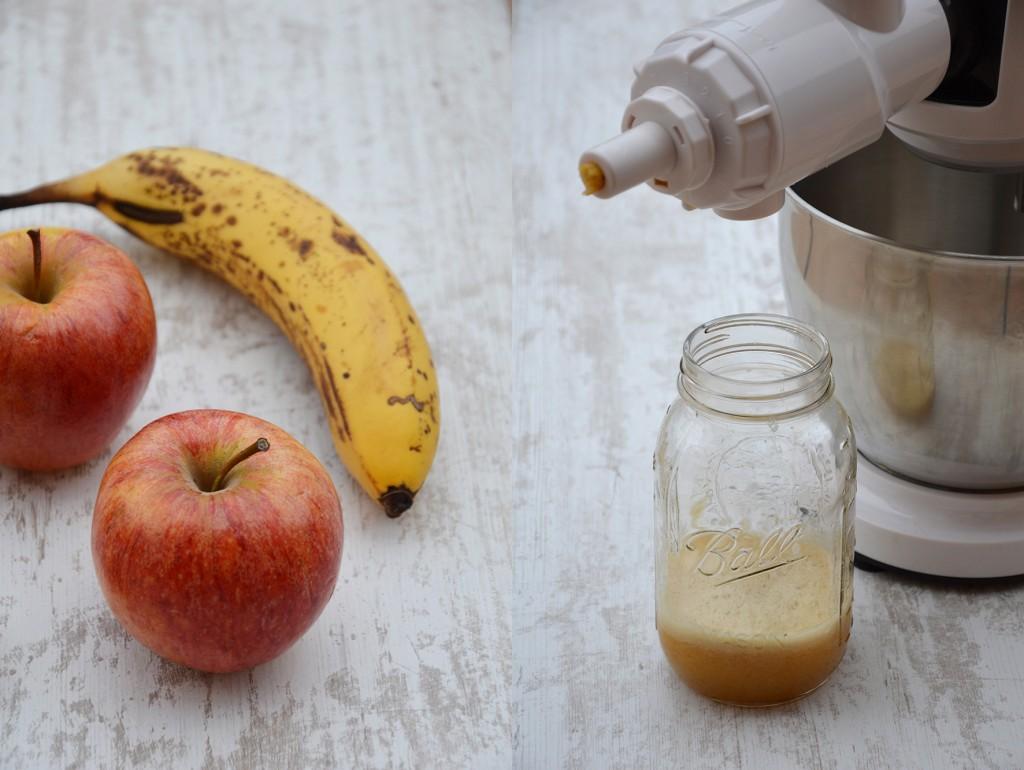 Smoothie banane-pomme-kiwi par Plus une miette dans l'assiette