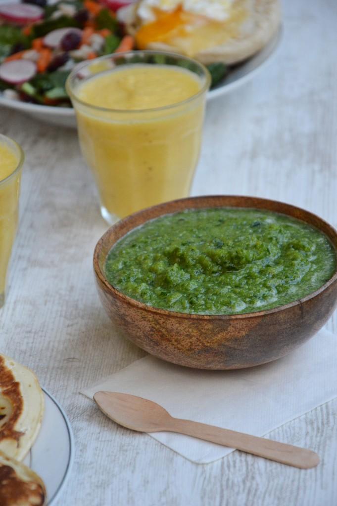Brunch coloré - soupe énergisante / Plus une miette dans l'assiette
