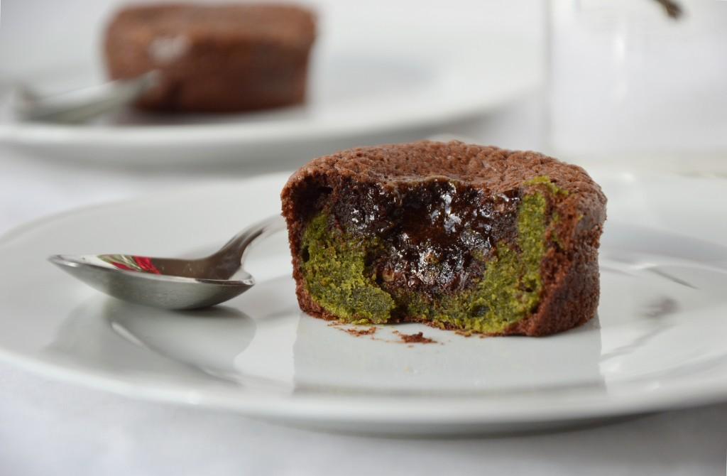 Fondant chocolat - matcha by Plus une miette dans l'assiette