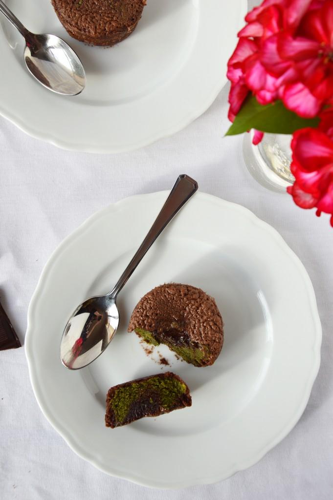 Fondant chocolat - matcha par Plus une miette