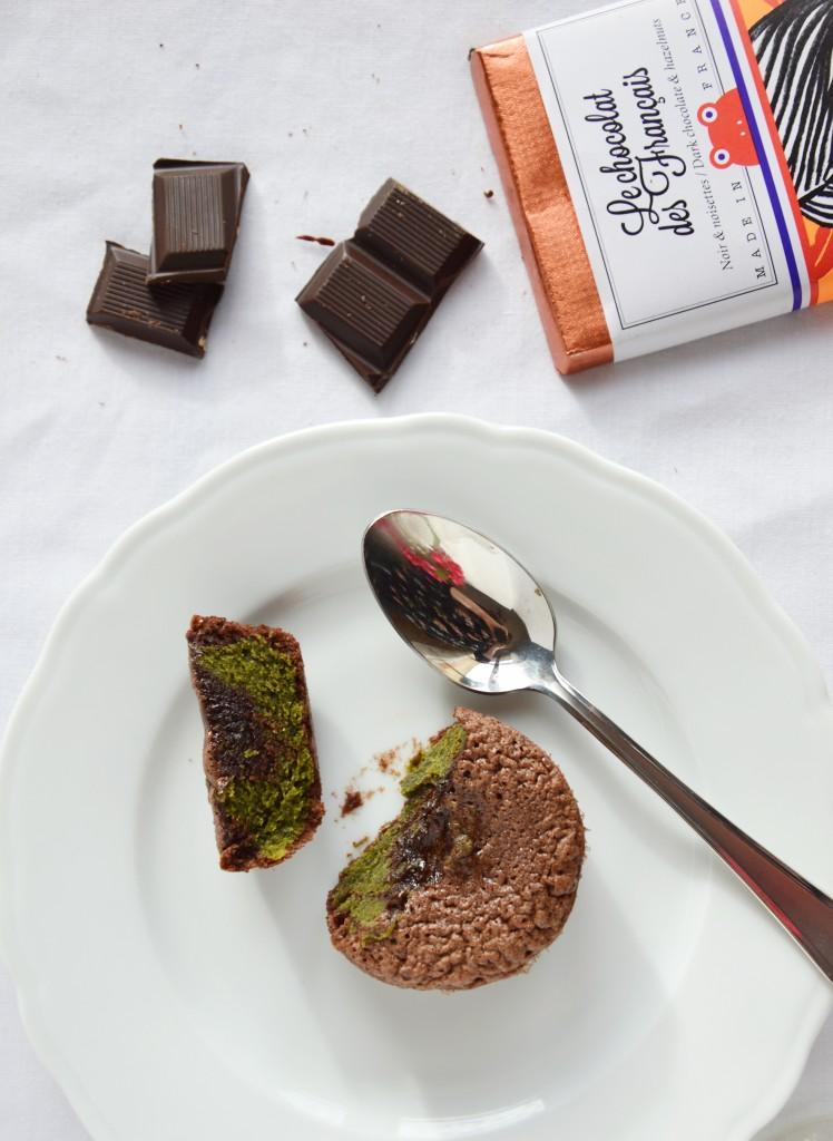 Fondant chocolat - matcha by Plus une miette