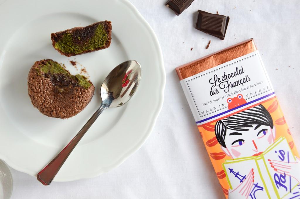 Fondant chocolat - matcha - Plus une miette dans l'assiette