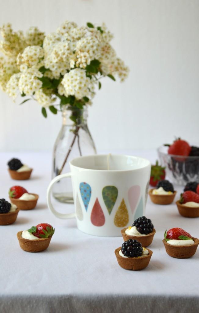 Tartelette mures - fraises - Plus une miette dans l'assiette