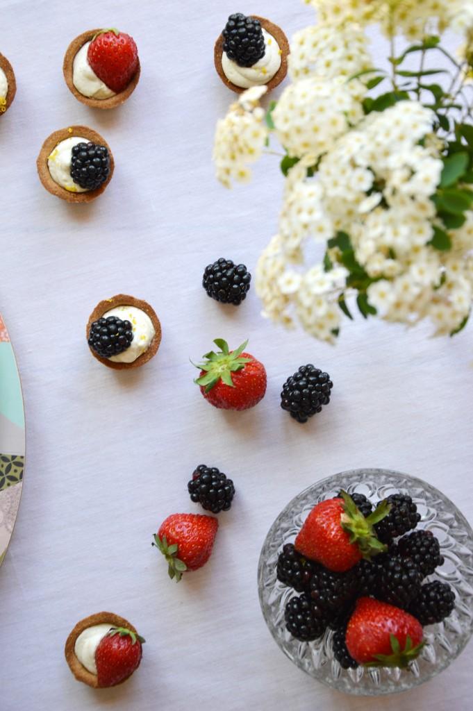 Tartelette mures - fraises - Plus une miette