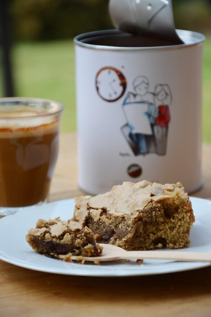 Tendre brownie au café - Plus une miette dans l'assiette