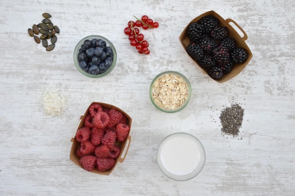 Ingrédients smoothie bowl