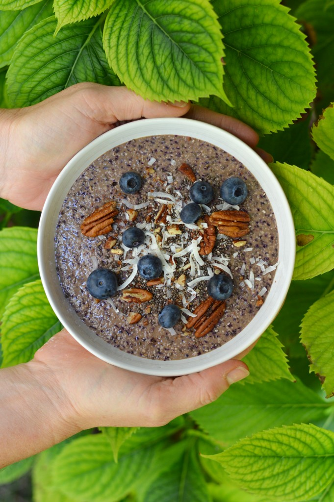 Gluten free brunch - Blueberry smoothie bowl - Plus une miette