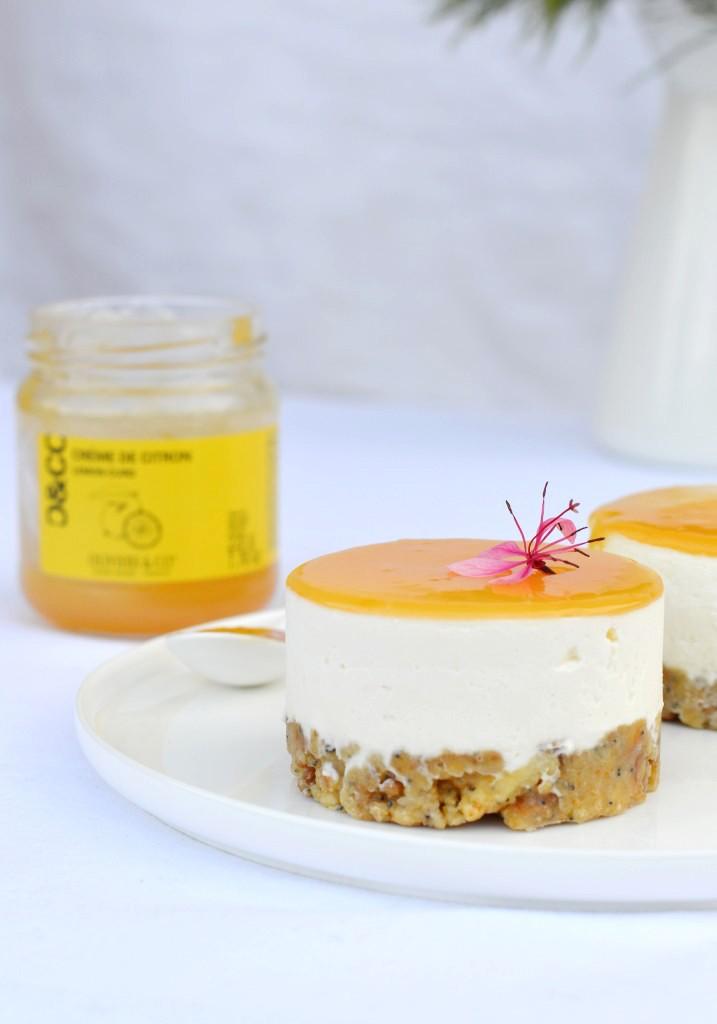 Cheesecake sans cuisson à la crème de citron - Plus une miette