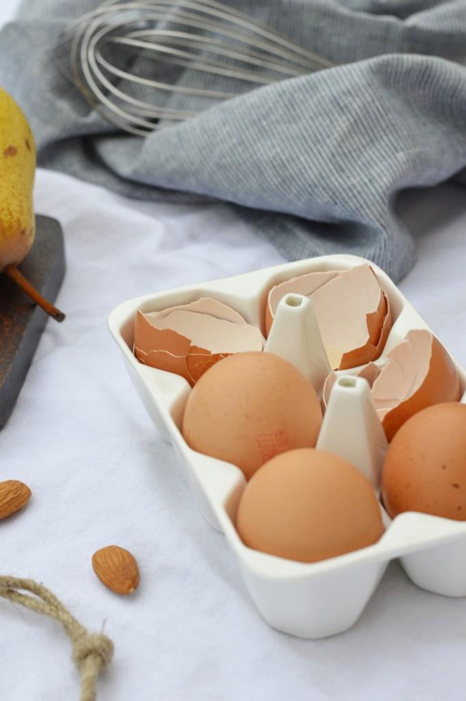 Ingrédients tartelettes poire-amande choco par Plus une miette dans l'assiette