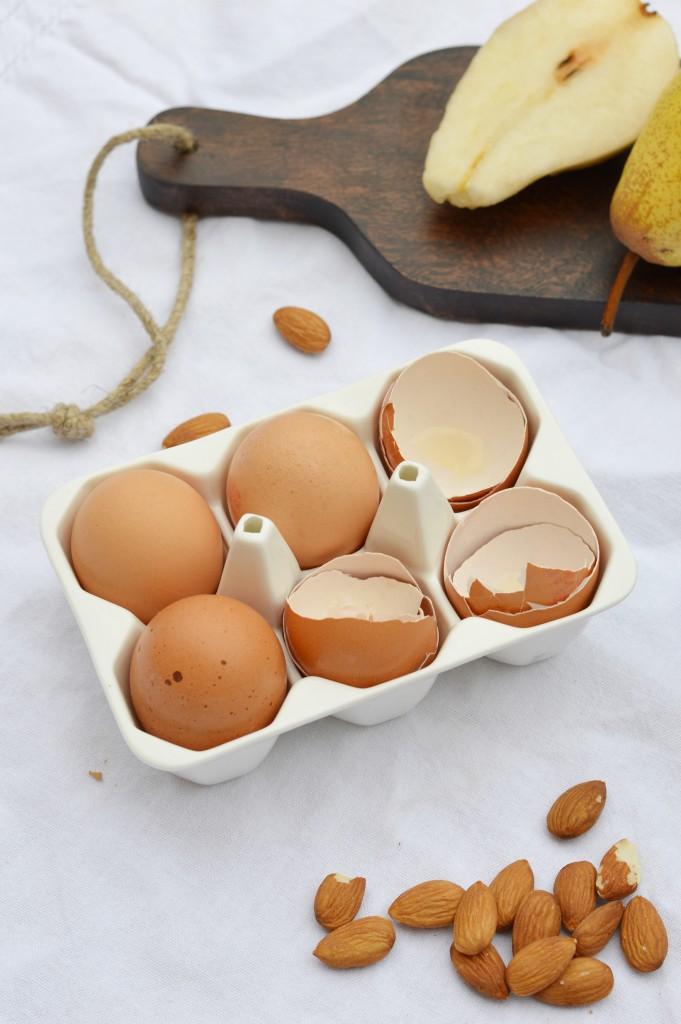 Ingrédients tartelettes poire-amande choco - Plus une miette