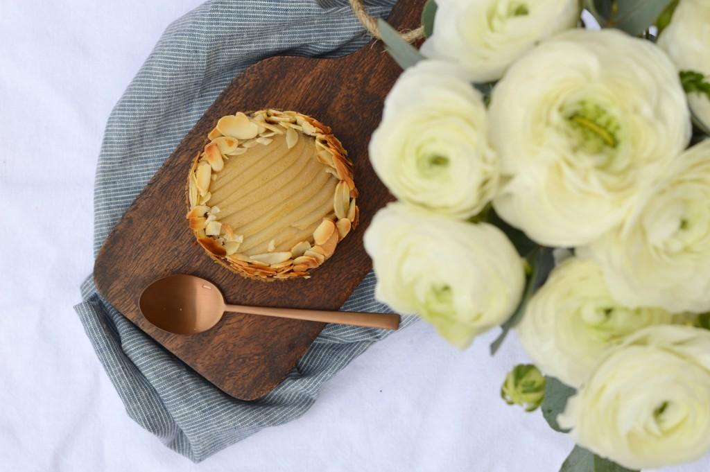 Tartelettes poire-amande choco par Plus une miette