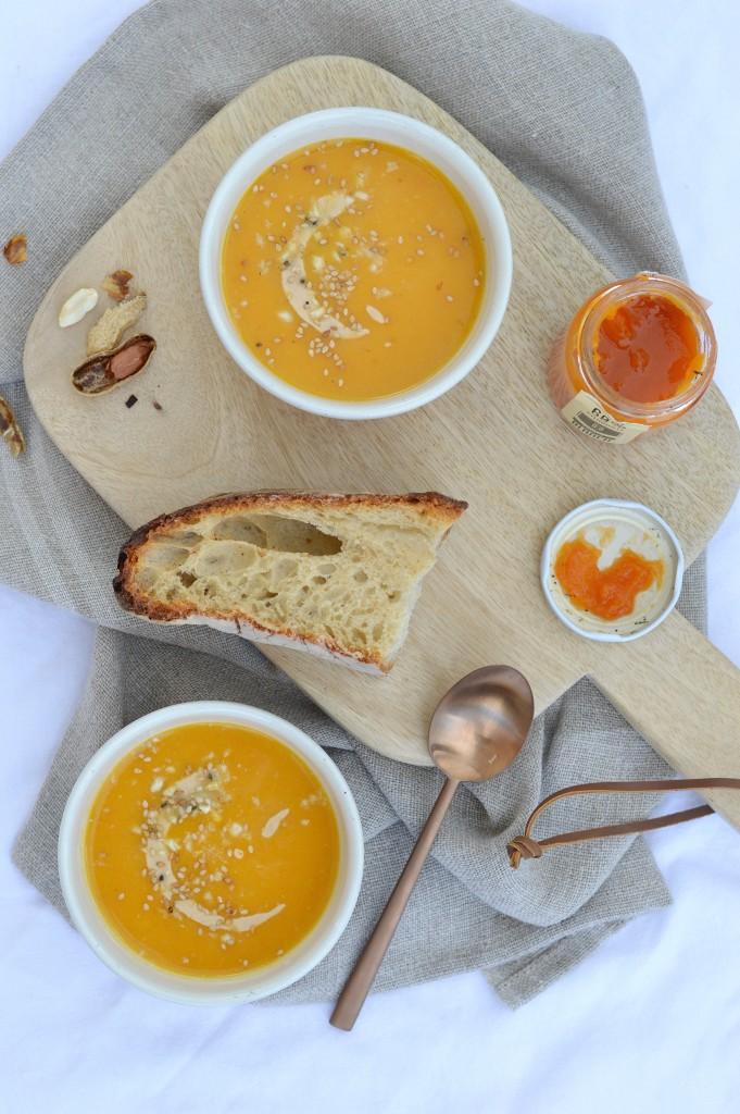 Soupe potiron-butternut-beurre de cacahuète / Plus une miette