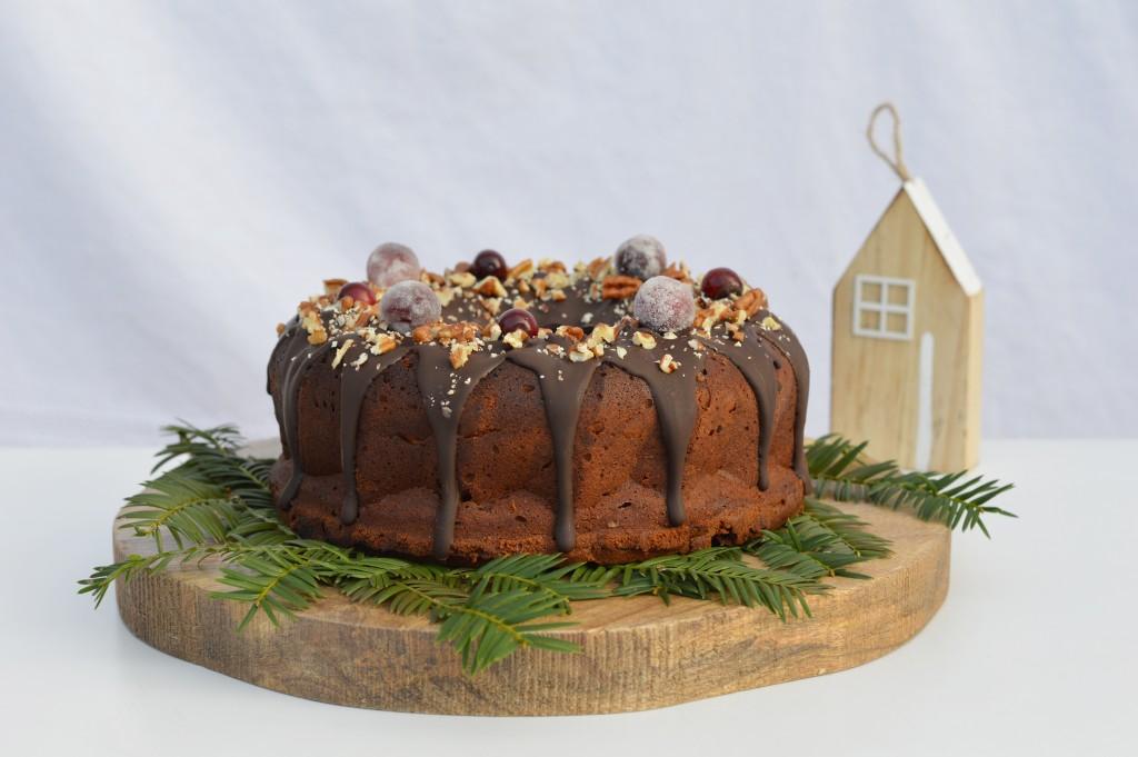 """Bundt cake de noël au chocolat / Plus une miette dans l""""assiette"""
