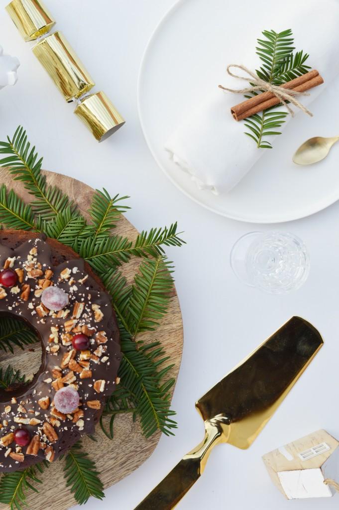 Bundt cake de noël au chocolat - Plus une miette dans l'assiette