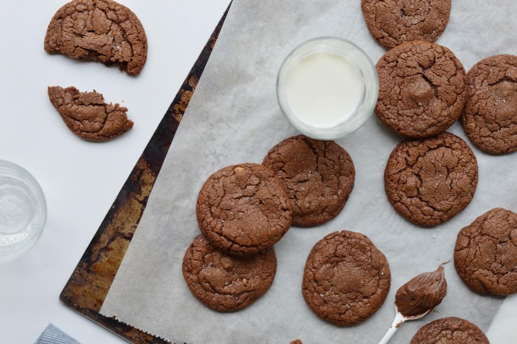 Cookies pécan-pâte à tartiner-fleur de sel - Plus une miette