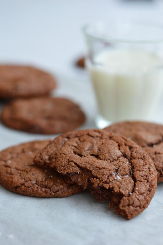 Cookies pécan-pâte à tartiner-fleur de sel par Plus une miette dans l'assiette