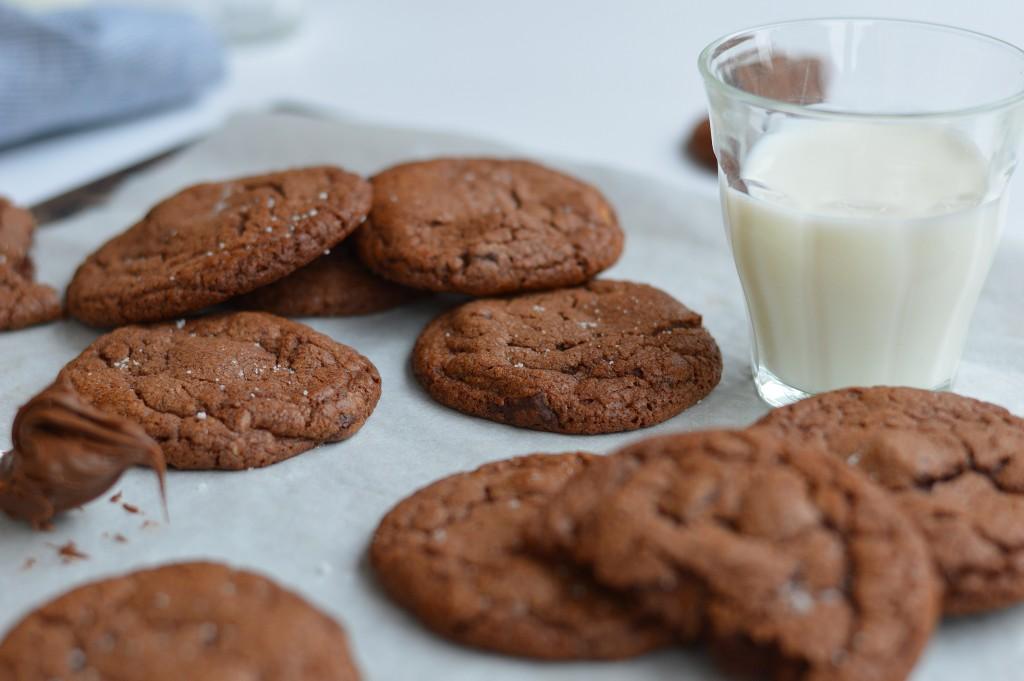 Cookies pécan-pâte à tartiner-fleur de sel par Plus une miette