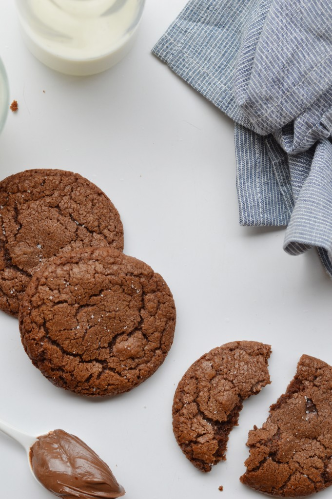 Cookies pécan-pâte à tartiner-fleur de sel - Plus une miette dans l'assiette