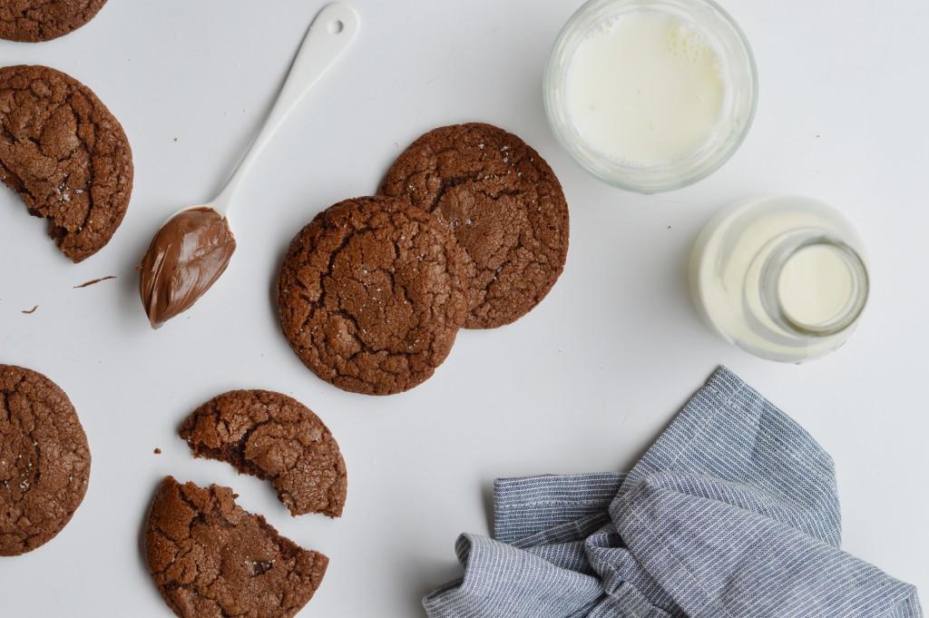 Cookies noix de pécan-pâte à tartiner-fleur de sel - Plus une miette dans l'assiette