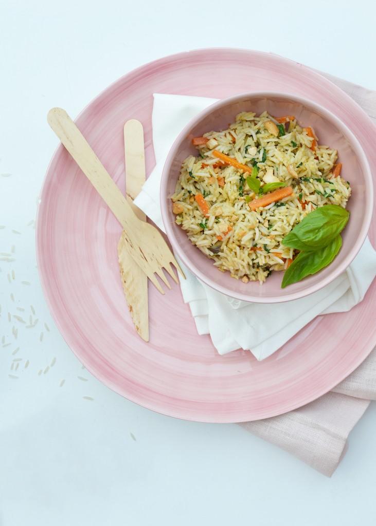 Riz pilaf aux saveurs d'Asie - Plus une miette dans l'assiette