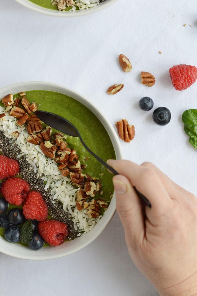 Green smoothie bowl / Plus une miette