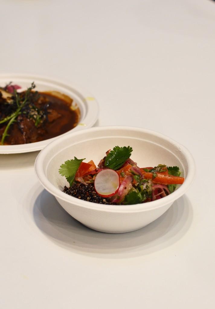 Ceviche fraicheur, quinoa des Andes en frichti leche del tigre de Bengala - Juan Arbelaez