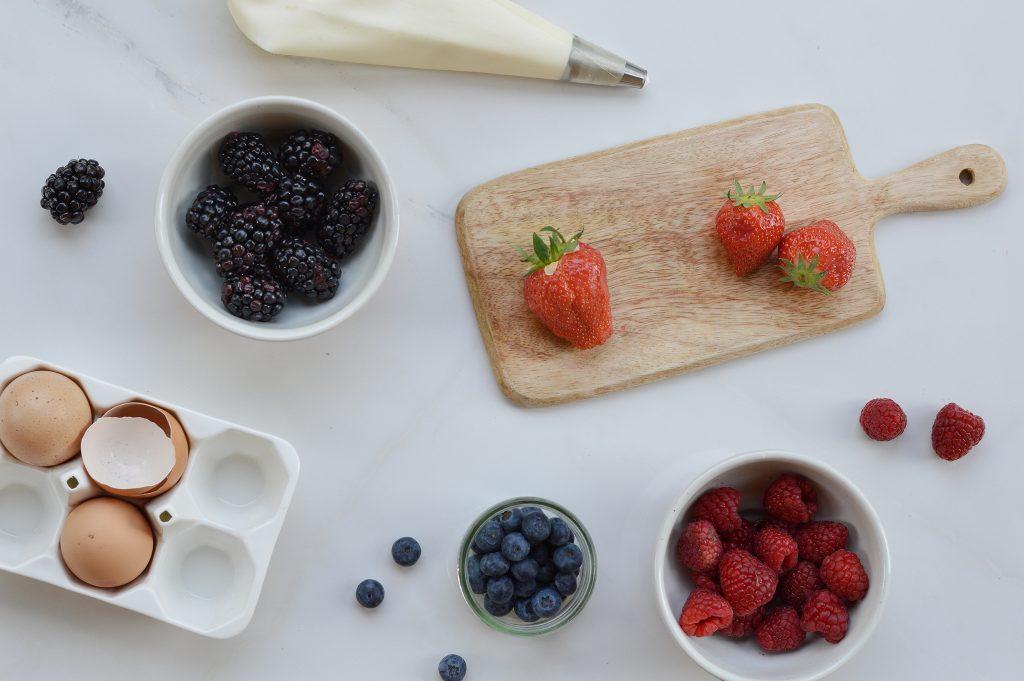 Tarte pistache fruits rouges - Ingrédients