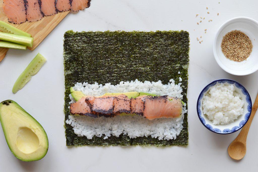 Makis saumon-avocat-concombre - Plus une miette
