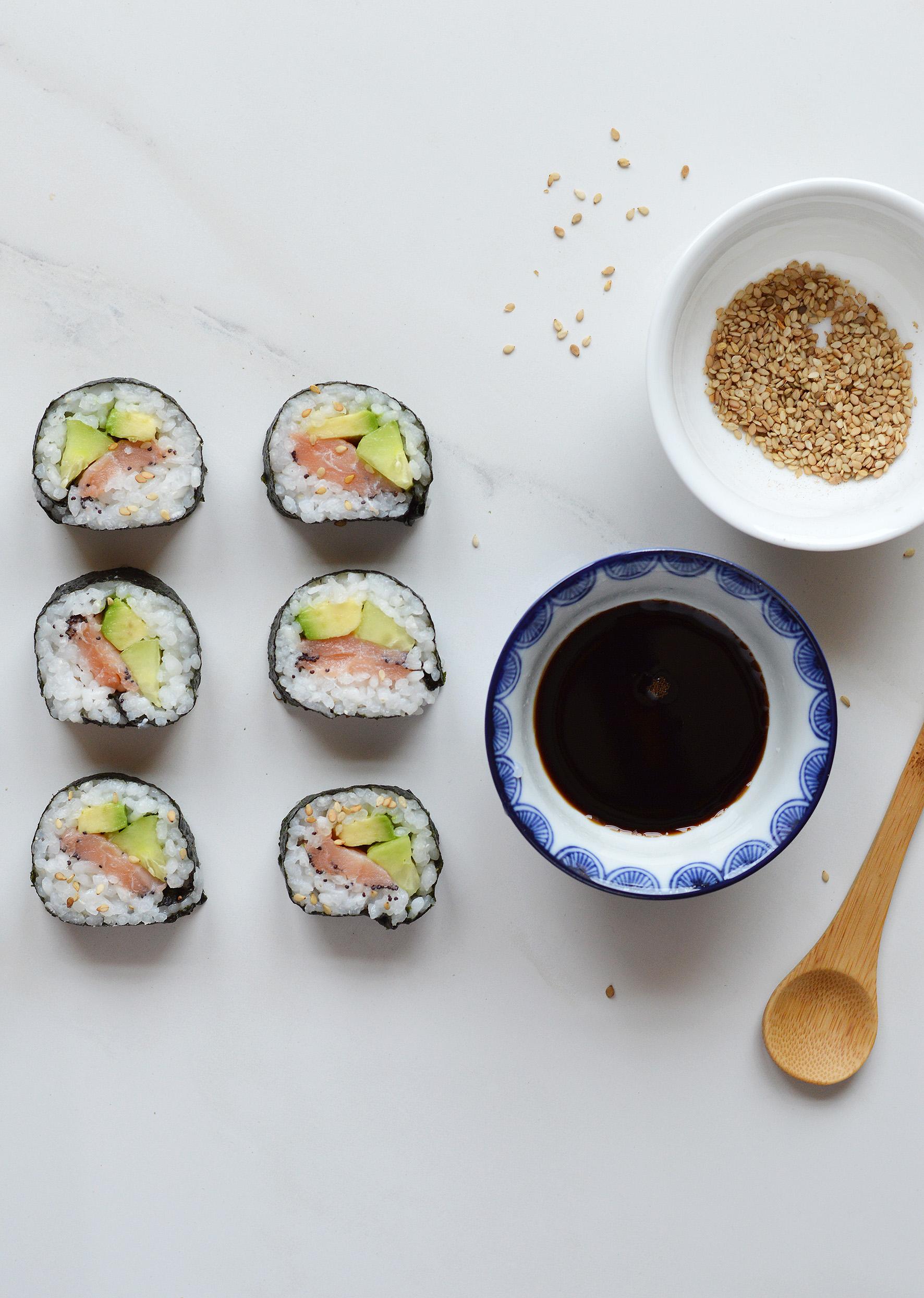Makis saumon-avocat-concombre - Plus une miette dans l assiette